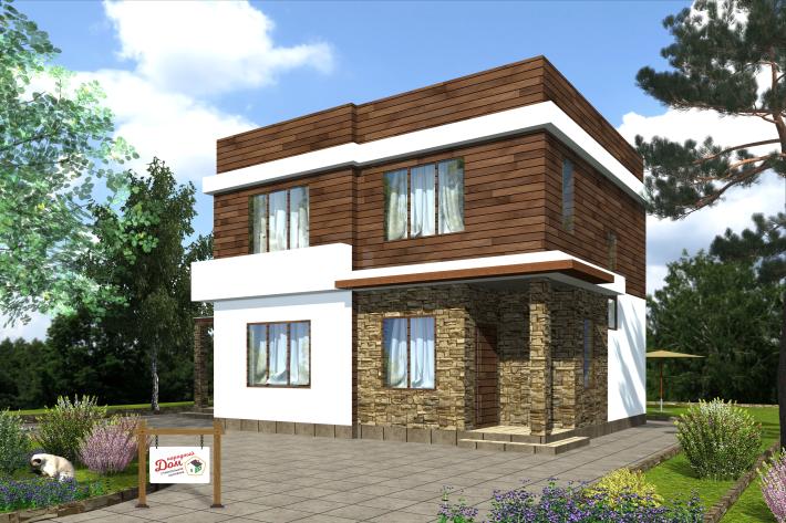 Двухэтажный дом с террасой. НД.108-1