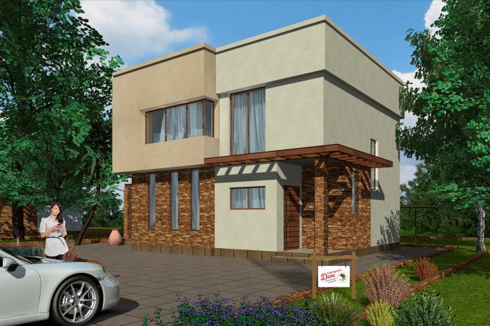 Двухэтажный дом с террасой. НД.108-2