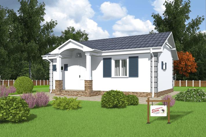 Одноэтажный дом с террасой. НД.041-2