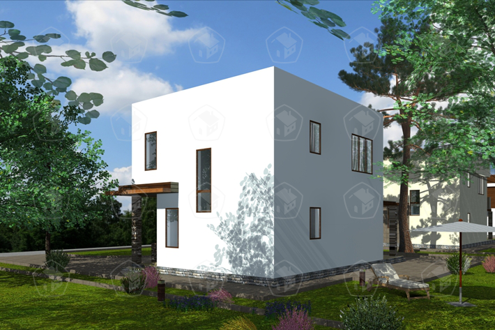 Двухэтажный дом с террасой. НД.108-3