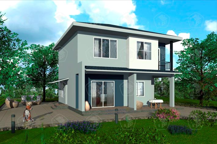 Двухэтажный дом с террасой. НД.108-4
