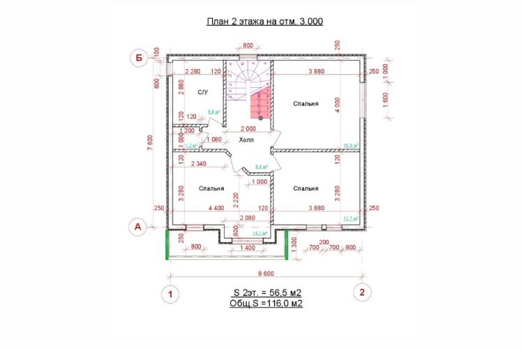 Двухэтажный дом. НД.116