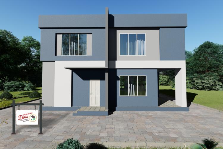 Двухэтажный дом с террасой. НД.150