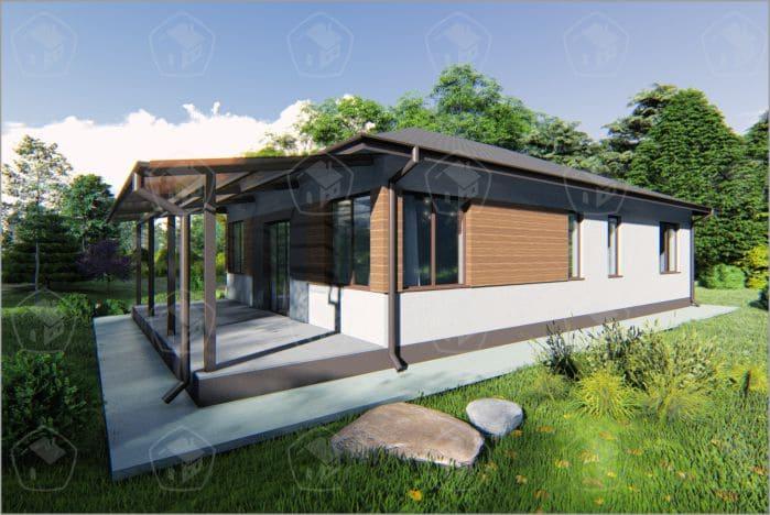 """Одноэтажный дом """"Сакура"""""""