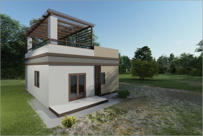 """Одноэтажный дом с функциональной крышей """"Ирис XL"""""""