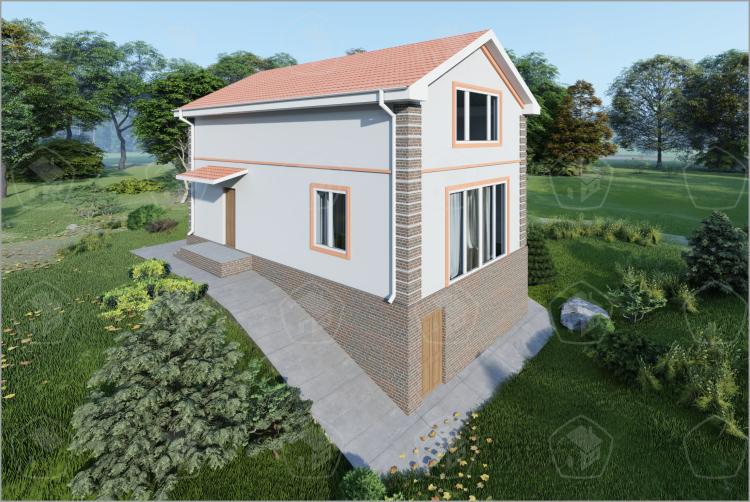 """Полутораэтажный  дом с цоколем """"Амелия"""""""