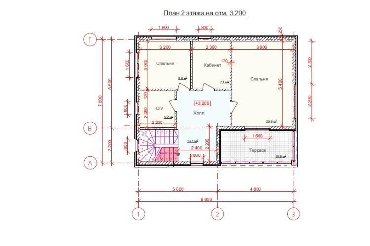 """Двухэтажный дом с террасой """"Посейдон"""""""