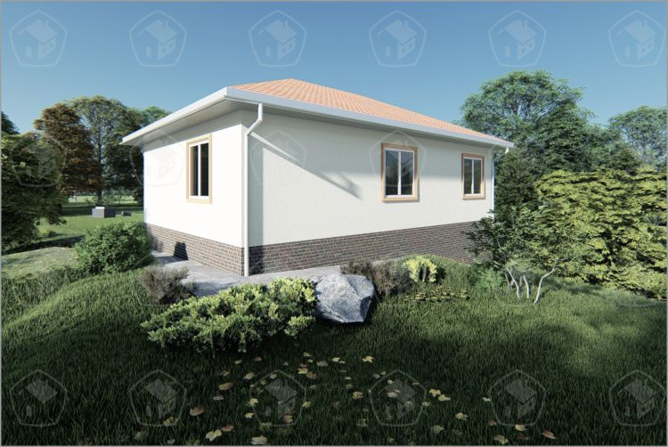"""Одноэтажный дом с подвалом """"Сакура 2"""""""