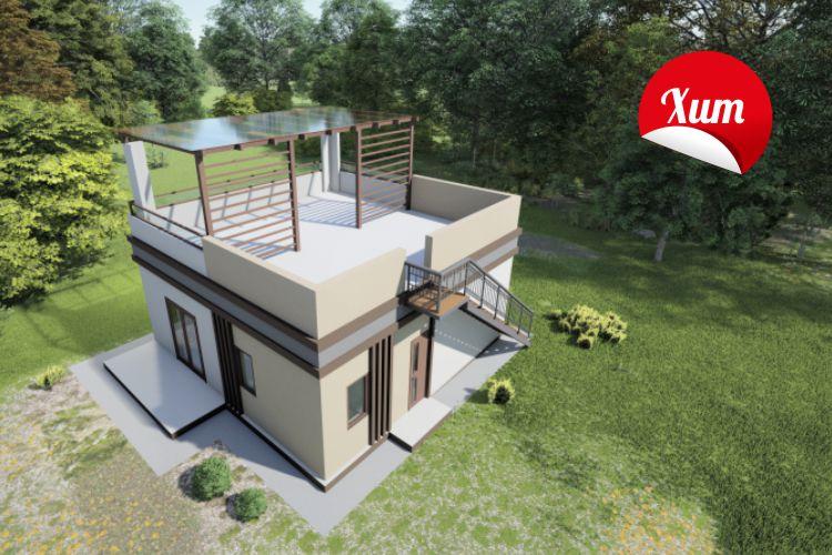 Одноэтажный дом с функциональной крышей