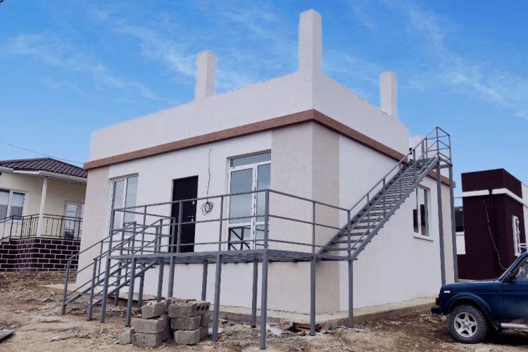 Готовый дом с плоской крышей по проекту